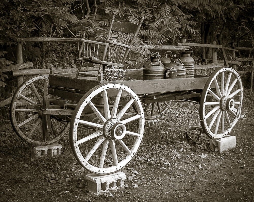 outdoor photography rustic cart